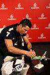 Emirates Global Ambassador Cristiano Ronaldo signing Emirates plane.jpg